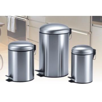 Cubo de basura del paso del acero inoxidable de Cylinde