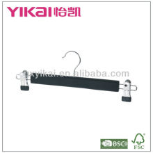 Wooden Skirt and Trousers Hanger with Metal Clips