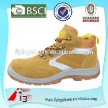 Deslizamento sapatas de trabalho impermeáveis resistentes sapatas de aço dos dedos do pé