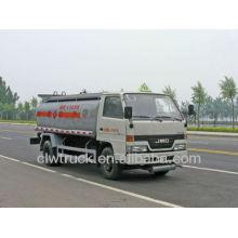 Jiangling 5m3 veículo móvel do óleo para a venda, caminhão de tanque de combustível 4x2