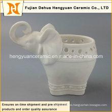 Porcelana elefante forma jarrón de flores con alta calidad (decoración del hogar)