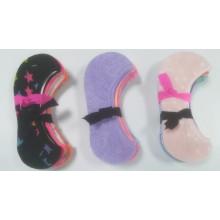 Moda buena señora y chica Invisible calcetines calcetines de algodón de línea