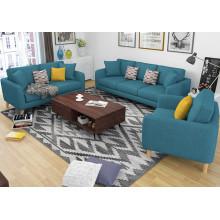 2016 muebles de sala de estar moderno 1 + 2 + 3 sofá de tela