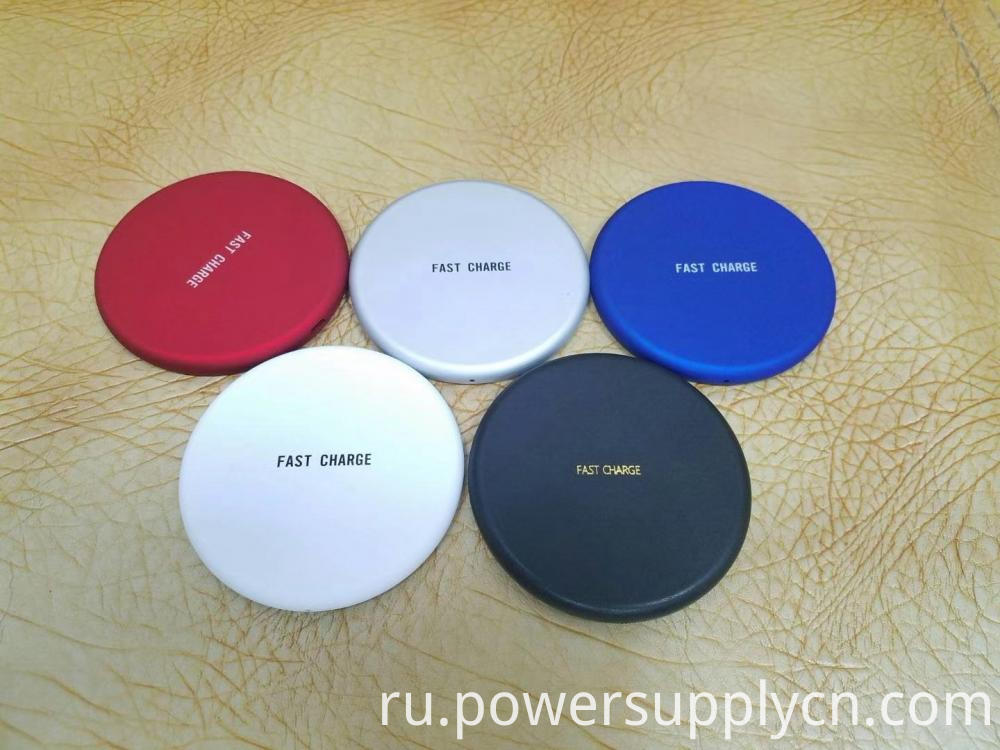 Rubber Coating Wireless Fast Charger For Mobile Phone