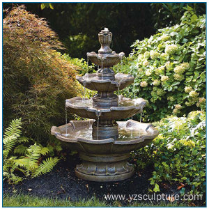 Antique Classical Bronze Tiered Water Fountain