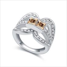 VAGULA cuadrado circón anillo de plata para mujeres