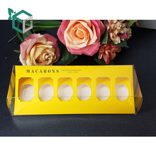 Hot sale custom logo black color macaron box