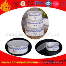 Sunboat 3 шт набор эмалированной миске Подгонянная Конструкция посуда