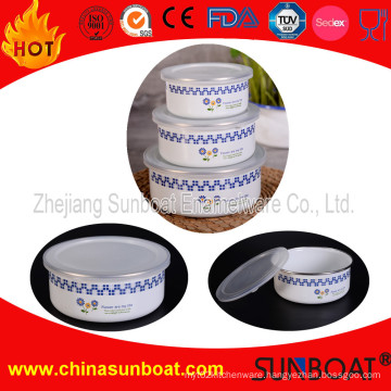 Sunboat 3 PCS Set Enamel Mixing Bowl Customized Design Tableware