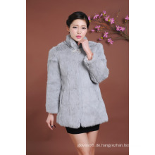 Dame Fur Overcoat Winter Pelz Mantel Frauen Outwear Mantel