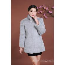 Lady Fur Overcoat invierno abrigo de pieles mujeres Outwear abrigo