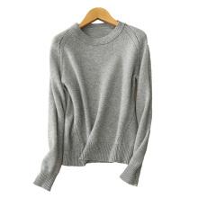 Frauen Casual Pullover Kaschmir-Kabel stricken 7GG Pullover Pullover O Hals Raglan-Ärmeln dicken Pullover für den Winter