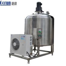 Tanque de enfriamiento de leche de acero inoxidable para línea de producción de yogur