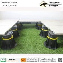 Suporte de piso de madeira de jardim de telhado de plástico