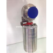 Válvula de mariposa soldada sanitaria eléctrica del acero inoxidable