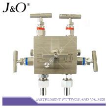 Manifold de valve de 5 manières d'instrument d'acier inoxydable