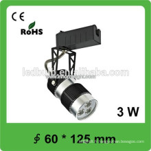 Lumière LED 3W à piste intérieure, lampe à piste led 60 * 125mm