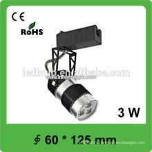 3W крытый трек светодиодный свет, 60 * 125 мм светодиодный трек свет