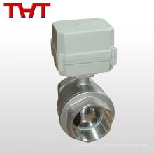 DN 25 actuador de control de flujo eléctrico de 2 vías válvula de bola de acero inoxidable