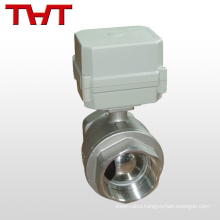 DN 25 2 way electric flow control actuator stainless steel ball valve