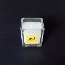 Hand Poured Private Label Scented Square Glass Candle