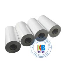 Fita de transferência térmica branca da etiqueta c do cuidado da lavagem de matéria têxtil de 110mm * 300m