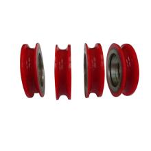 Rueda de plástico v rueda de polea puerta corredera rodamientos de ducha rueda de rodamiento rueda