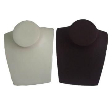 Horizontal PU Wrapped Jewelry Resin Bust (NS-RS-Hz-BG / BK)