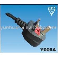 UK style alimentation cordon d'alimentation câbles type Figure 8 secteur conduire BS
