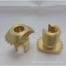 Peças de latão anodizado CNC com serviço de OEM
