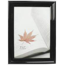 Черный блестящий 5x7inch пластиковых ПВХ фото рамка