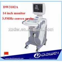Máquina médica de la exploración del ultrasonido de la carretilla del modo de B para la ginecología