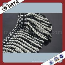 Großhandel Polyester Bullion Fringe Mix Grau mit schwarzer Vorhang Fringe Brush Fringe