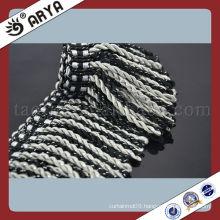 Wholesale Polyester Bullion Fringe Mix Grey With Black Curtain Fringe Brush Fringe