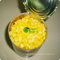 Kernels de maíz dulce enlatados en medio dulce