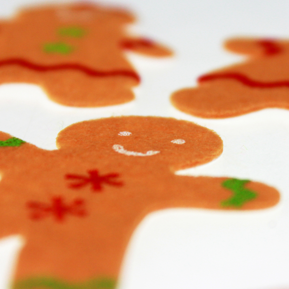 Gingerbread man felt sticker