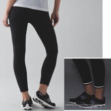 Großhandel Laddies Fitness Sport Hosen Kompression Tight mit reflektierenden Details und Kordelzug