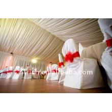 Couverture de chaise de banquet standard, CT042 polyester matière, durable et facile lavable