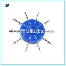 Manómetro de agujero óptico para tornillos