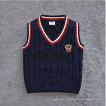 a veste européia da camisola do estilo / veste do algodão para meninos do bebê / crianças projeta a veste