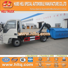 4X2 FOTON FORLAND brand 98hp capacity of 4.5 tons rear loader garbage truck 4.5tons high quality and inexpensive in China