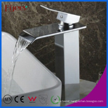 Fyeer High Body Bathroom Waterfall Basin Sink Faucet (Q3003H)
