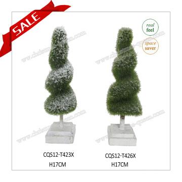 2017 Hot Sale Mini Garden Ornaments Plastic Home Decoration Planta Artificial Topiary