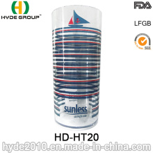 Claro taza de plástico transparente sin tapa