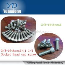 304 aço inoxidável 3 / 8-16 X1 1/4 parafusos de cabeça de encaixe