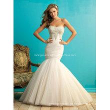 Sirena vestido de novia de organza rebordear vestido de novia