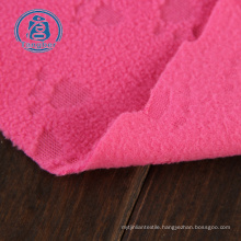 Anti Pilling 100 Polyester polar Fleece Emboss Fabric