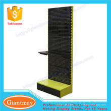 floor standing pegboard hanging shoe metal display rack with shelf