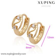 (29952) Xuping mulher brincos com 18k banhado a ouro de jóias por atacado