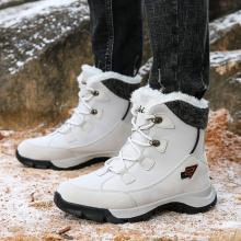 Botas de neve quente de inverno para mulheres ao ar livre
